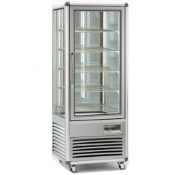 Vitrina frigorifica de cofetarie Tecfrigo Snelle 505 G, capacitate 500 l, temperatura +4/+10°C, argintiu