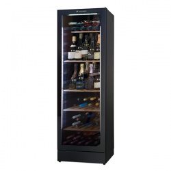 Vitrina de vinuri Tecfrigo Wine 185 FG Brut, pentru vinuri spumante, capacitate 368 l, temperatura +2/+10°C, negru