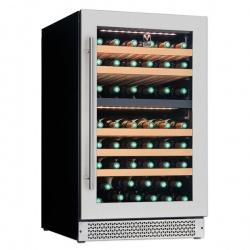 Vitrina vinuri incorporabila Tecfrigo Sommelier 80 Plus, capacitate 190 l, 2 zone temperatura +12+20/ +5+12, negru
