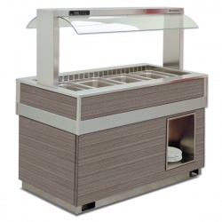 Vitrina frigorifica calda FUTURA 6, temperatura +4/+10C, lemn pin