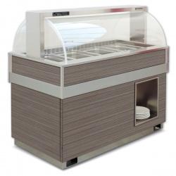 Vitrina frigorifica calda FUTURA 4 VT SS, temperatura +4/+10C, lemn pin
