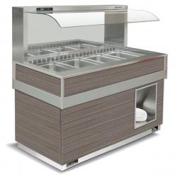Vitrina frigorifica calda FUTURA MURALE 4, temperatura +4/+10C, lemn pin